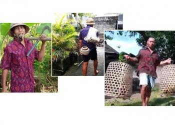 Gambar-gambar/meme yang beredar di media sosial menanggapi SE Gubernur tentang penggunaan kain endek