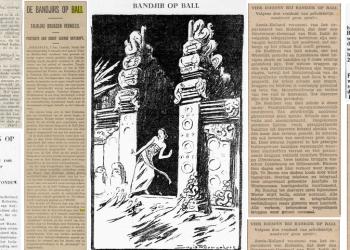 Berita-berita koran pada zaman kolonial yang memberitakan banjir besar di Bali [dokumen Nengah Januartha]