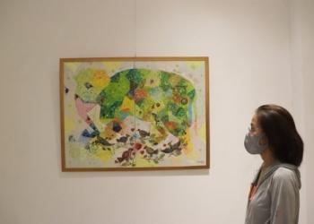 """Pameran seni rupa bertajuk """"Move On"""" di Bidadari Art Space, Mas, Ubud, Gianyar."""