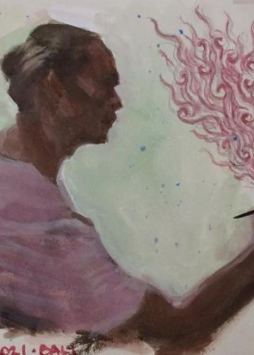 Ida Bagus Sena [lukisan by Vincent Chandra]