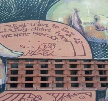 Mural yang Dibuat Oleh Wild Drawing di Kulidan Kitchen and Space