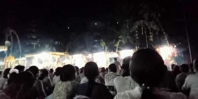 Suasana upacara ngusaba kadasa di Desa Kedisan, kintamani, Bangli